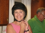 Susan didn't bring her helmet to all our reunion committee meetings. Thanks to all the past and present committee membe
